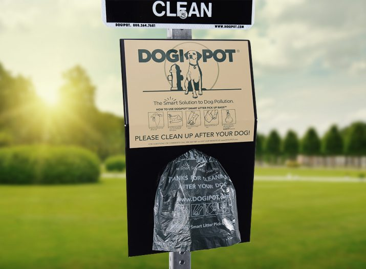 dog poop disposal container